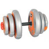 Insportline jednoruční nakládací činkový set 3-18 kg