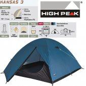 High Peak Kansas 3 modrý + DÁREK DLE VÝBĚRU!